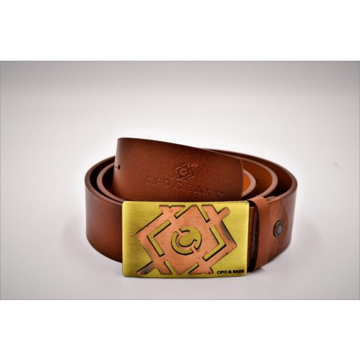 Cipo & Baxx tobacco men's belt C44856 TABA