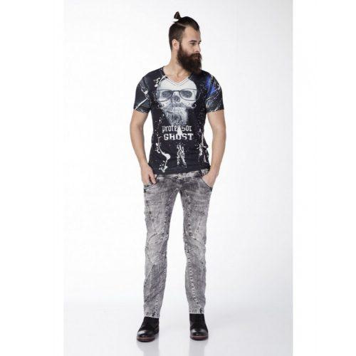 Cipo & Baxx gray Slim fit men's denim pants CD238