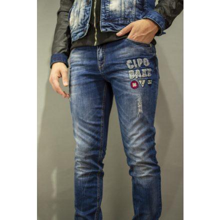 Cipo & Baxx men's limited edition denim pants CD368BLUE