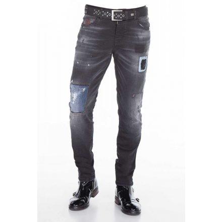 Cipo & Baxx divatos férfi farmer CD388 Black