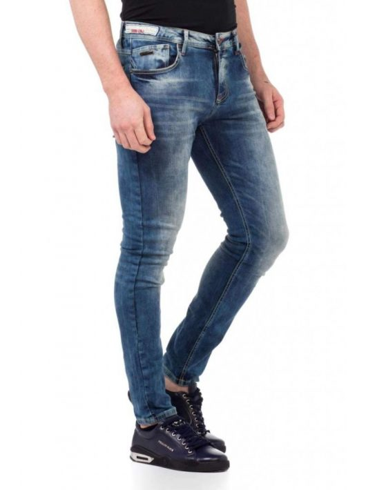 Cipo & Baxx divatos férfi Slim fit farmer CD430BLUE
