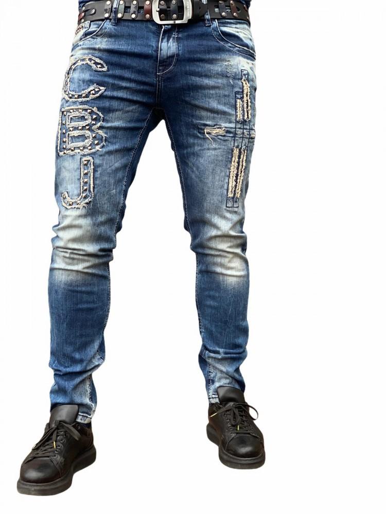 cipo baxx koptatott divatos férfi farmer CD431 - Cipo Baxx Denim ... 5120ab994e