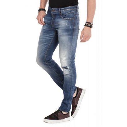 Cipo & Baxx divatos férfi Slim fit farmer CD475 Blue