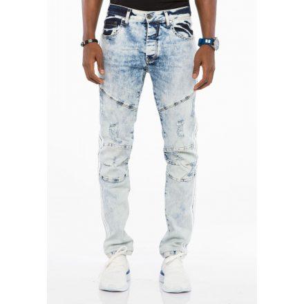 Cipo & Baxx divatos férfi Slim fit farmer CD477 Ice Blue