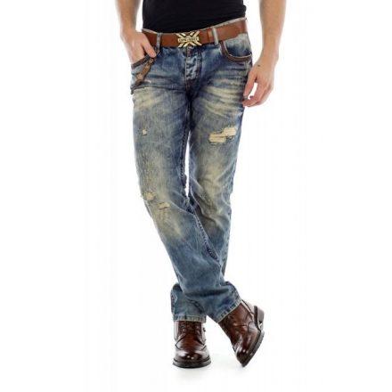 Cipo & Baxx fashionable men's denim pants CD493blue