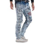 Cipo&Baxx divatos férfi farmernadrág CD498BLUE