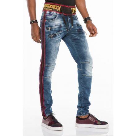 Cipo & Baxx divatos férfi Slim fit farmer CD504 Blue