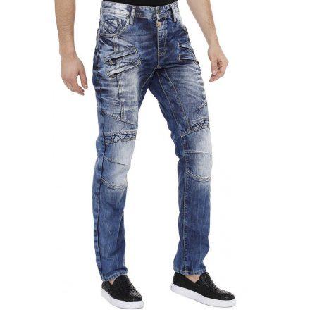 Cipo & Baxx divatos férfi Slim fit farmer CD510 Blue
