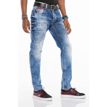 Cipo & Baxx divatos férfi Slim fit farmer CD520 Blue