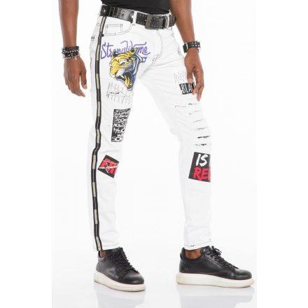Cipo & Baxx divatos férfi Slim fit farmer CD525 White