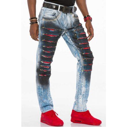 Cipo & Baxx divatos férfi Slim fit farmer CD526 Blue