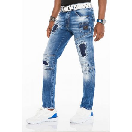 Cipo & Baxx divatos férfi Slim fit farmer CD528 Blue