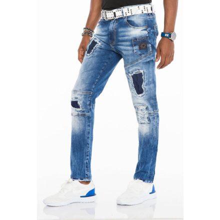 Cipo & Baxx fashionable men's Slim fit denim pants CD528BLUE