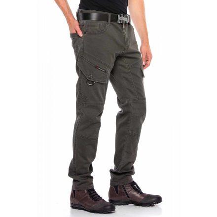 Cipo&Baxx divatos férfi farmernadrág CD566 Khaki