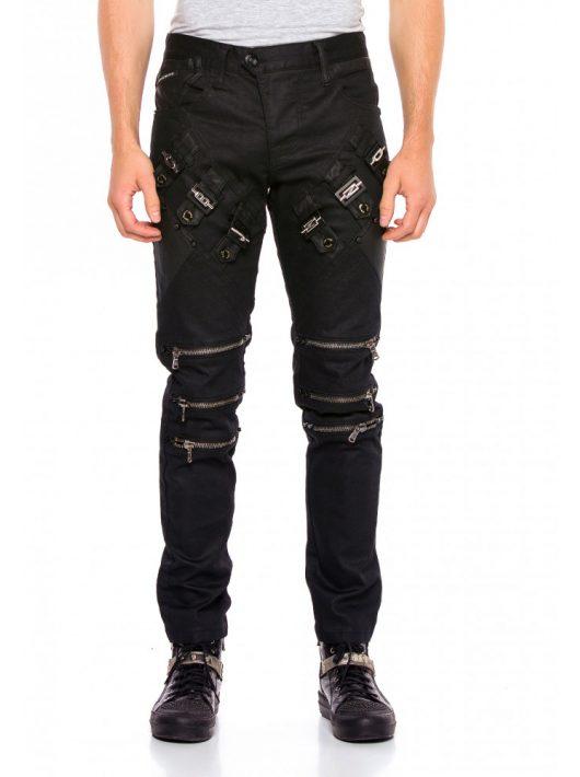 Cipo & Baxx divatos férfi fekete farmer CD567BLACK