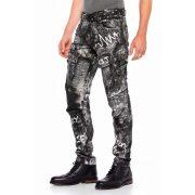 Cipo & Baxx divatos férfi fekete farmer CD572BLACK