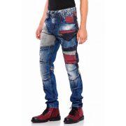 Cipo&Baxx többszínű divatos férfi farmer CD574BLUE
