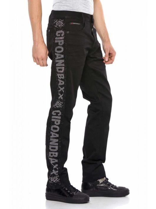 Cipo&Baxx divatos férfi farmernadrág CD578BLACK