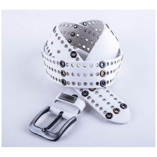 Cipo & Baxx men's studded white belt CG100 WHITE