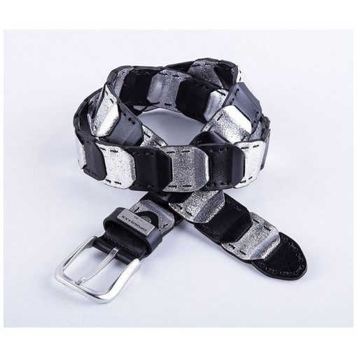 Cipo & Baxx fashionable men's belt CG104 BLACK SILVER