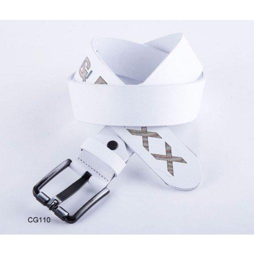 Cipo & Baxx férfi bőr öv CG110 White