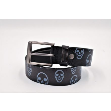 Cipo & Baxx black skull belt CG140 BLACK