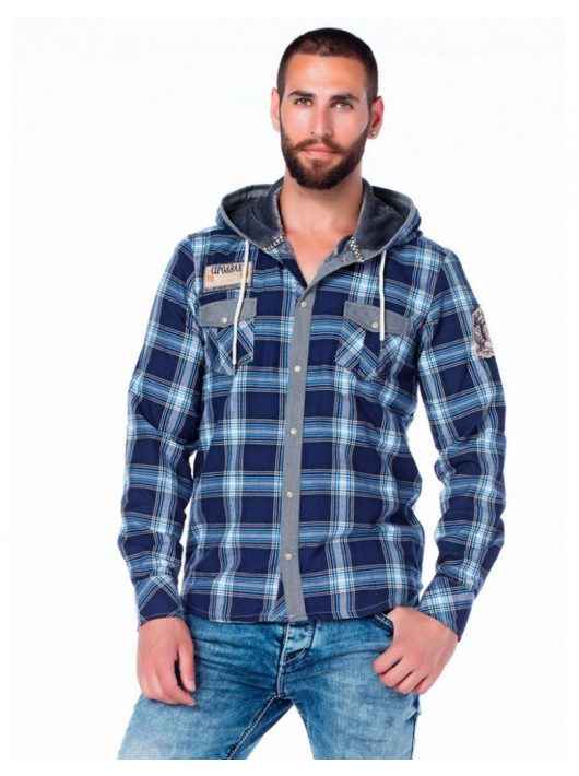 Cipo & Baxx divatos férfi ing CH128 BLUE