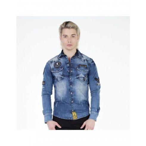 Cipo & Baxx férfi divatos ing CH134 BLUE