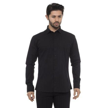 Cipo & Baxx fashionable men's shirt CH140 BLACK
