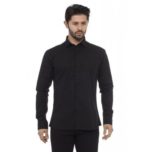 Cipo & Baxx divatos férfi ing CH140 BLACK