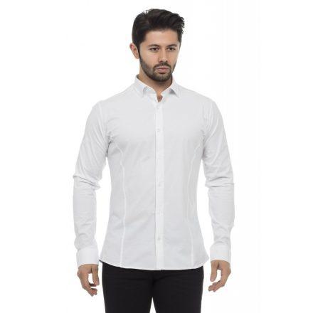 Cipo & Baxx fashionable white shirt CH140 WHITE