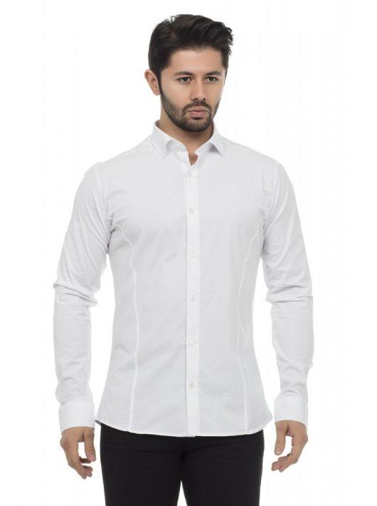 Cipo & Baxx divatos fehér ing CH140 WHITE