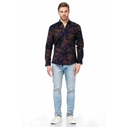 Cipo & Baxx fashionable men's shirt CH141 NAVY BLUE