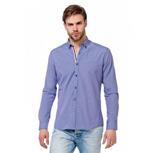 Cipo & Baxx fashionable men's shirt CH144 NAVY BLUE