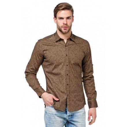 Cipo & Baxx fashionable men's shirt CH145 BROWN