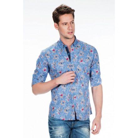 Cipo & Baxx fashionable men's shirt CH146 BLUE