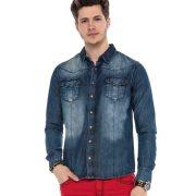 Cipo & Baxx men's fashionable shirt CH134 BLUE