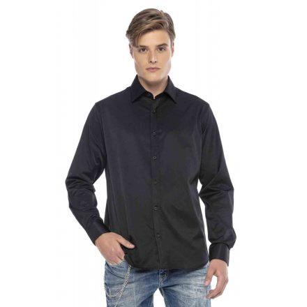 Cipo & Baxx divatos férfi ing CH166 Black