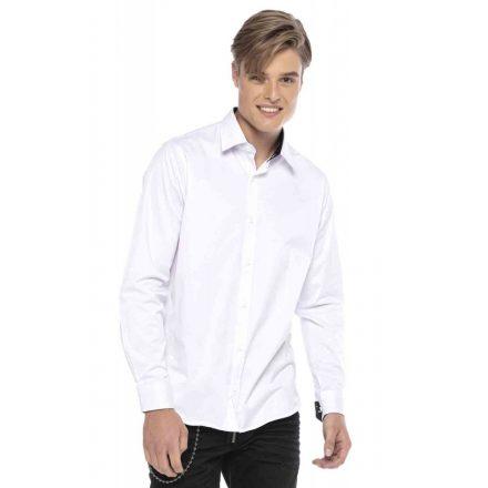 Cipo & Baxx divatos férfi ing CH166 White