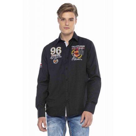 Cipo & Baxx divatos férfi ing CH170 BLACK