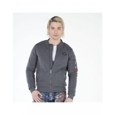 Cipo & Baxx anthracite kabát CJ151