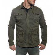 Cipo & Baxx divatos férfi kabát CJ161KHAKI