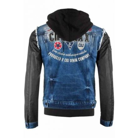 Cipo & Baxx férfi divatos farmerkabát CJ174 BLUE