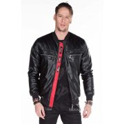 Cipo & Baxx men's faux leather jacket CJ176 BLACK