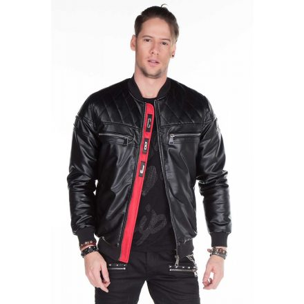 Cipo & Baxx men's faux leather jacket CJ176 BLACK