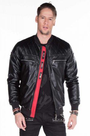 cipo baxx férfi műbőr kabát CJ176 BLACK - Cipo Baxx Denim Brand - Kabátok  e51fd1466f