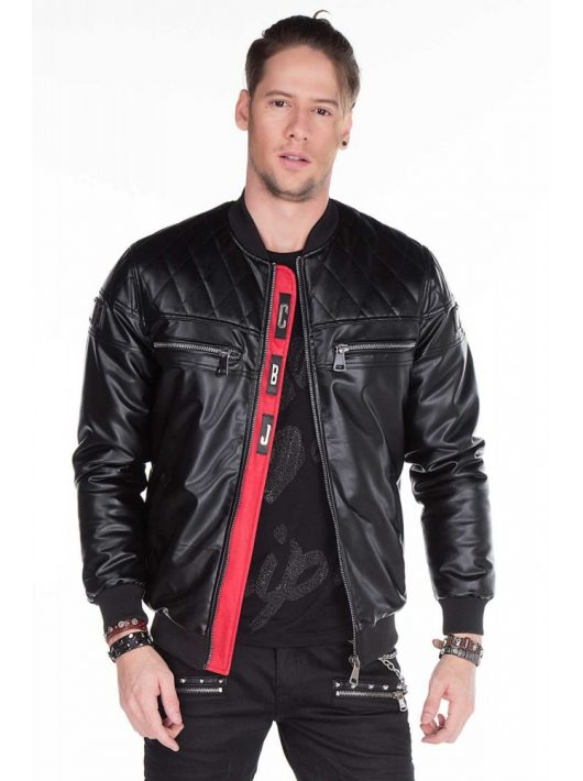 Cipo & Baxx férfi műbőr kabát CJ176 BLACK