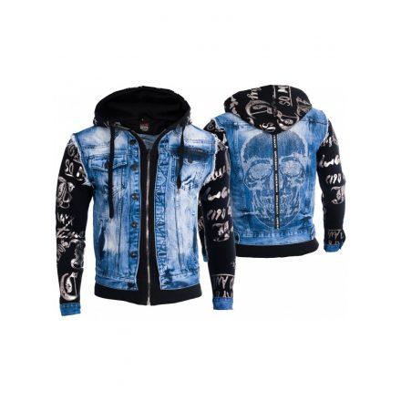 Cipo&Baxx divatos férfi farmerkabát CJ181_BLUE