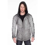 Cipo & Baxx divatos férfi kabát CJ183 ANTHRACITE