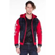 Cipo & Baxx fashionable denim jacket CJ189 DARK BLUE